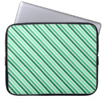 Stripes Designer Laptop Sleeve:Green