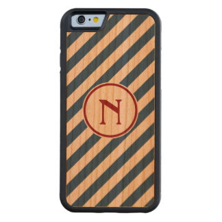 Stripes diagonal nautical monogram navy red cherry carved® cherry iPhone 6 bumper