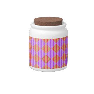 Stripes, Diamonds, Spotted Pattern Candy Dish