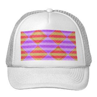 Stripes, Diamonds, Spotted Pattern Trucker Hat