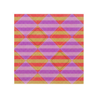 Stripes, Diamonds, Spotted Pattern Wood Wall Decor
