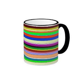 stripes-different colors Neutrals Coffee Mug