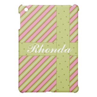 Stripes Dots Pink Lime  iPad Mini Case