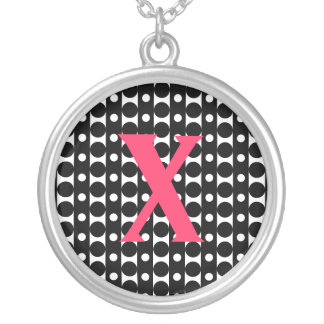 Stripes & Dots Silver Plated Necklace