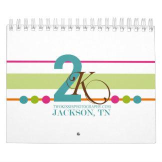 Stripes Dots & Sponge Paint Mini Calendar