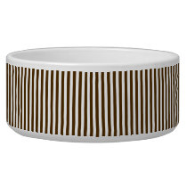 Stripes Even Brown and White Bowl