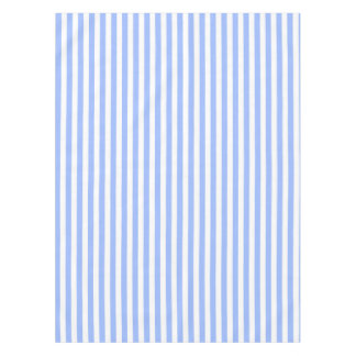 Stripes Even Light Blue And White. Tablecloth