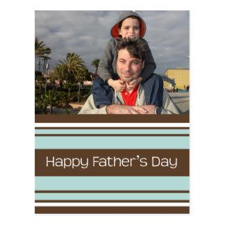 Stripes Father's Day - Customized Postcard