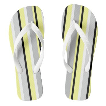 Beach Themed Stripes Flip Flops