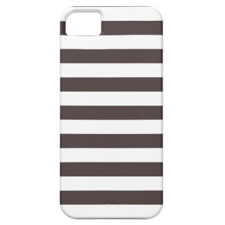 Stripes French Roast Brown iPhone 5 Case iPhone 5 Covers