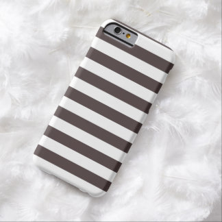 Stripes French Roast Brown iPhone 6 case
