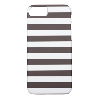 Stripes French Roast Brown iPhone 7 case