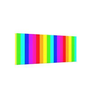 stripes full colors canvas print