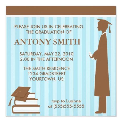 Stripes Graduation Invitation