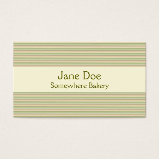 Stripes Green Business Card