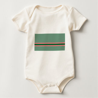 Stripes Green with Pink Baby Bodysuit