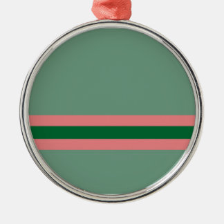 Stripes Green with Pink Christmas Ornaments
