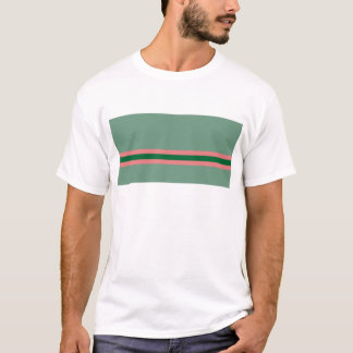 Stripes Green with Pink T-Shirt