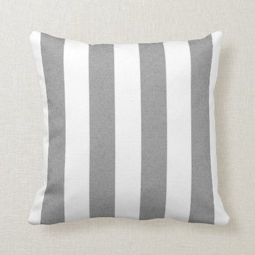 stripes grey and white throw pillow zazzle. Black Bedroom Furniture Sets. Home Design Ideas
