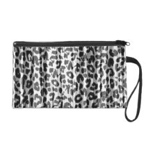 Stripes grey retro animal fur abstract texture wristlet purse