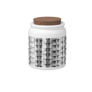 Stripes grey wicker seamless graphic design candy dishes