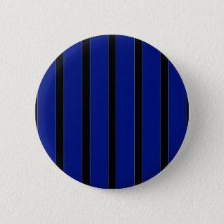 Stripes in Black & Blue Button