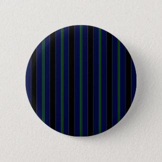 Stripes in Blue, Green & Black Pinback Button