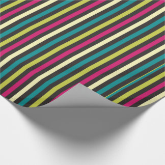 Stripes in CMYK Wrapping Paper