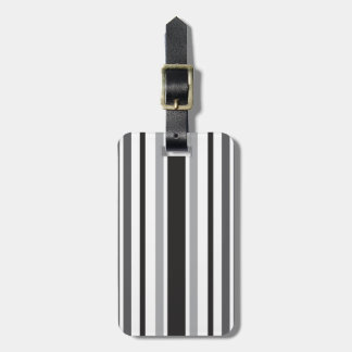 Stripes in Gray Bag Tags