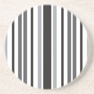 Stripes in Gray Coasters