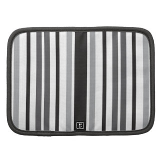 Stripes in Gray Folio Planners