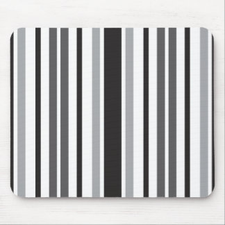 Stripes in Gray Mouse Pad