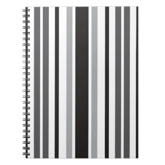 Stripes in Gray Spiral Note Book