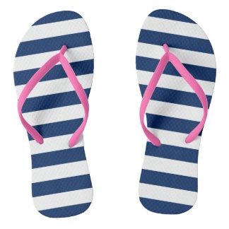 Stripes in Navy | Sandals Flip Flops