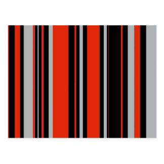 Stripes in Orange Black and Gray Postcard