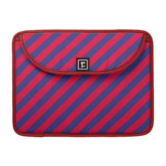 Stripes in Red & Blue Sleeves For MacBook Pro