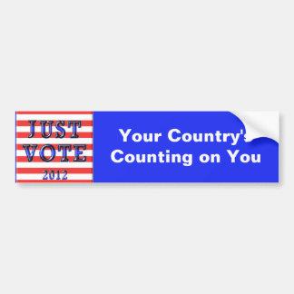 Stripes Just Vote 2012 Car Bumper Sticker