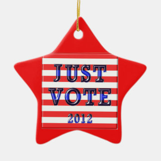 Stripes Just Vote 2012 Ceramic Ornament