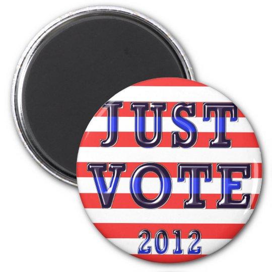 Stripes Just Vote 2012 Magnet