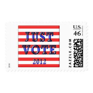 Stripes Just Vote 2012 Postage