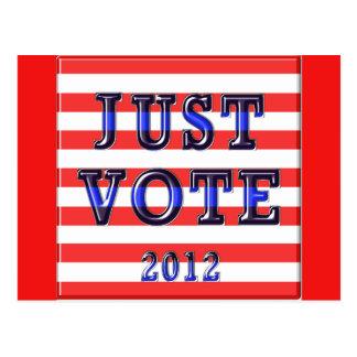Stripes Just Vote 2012 Postcard