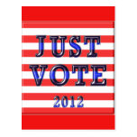 Stripes Just Vote 2012 Postcards