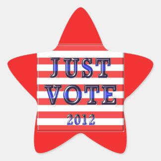 Stripes Just Vote 2012 Star Stickers