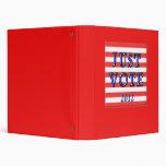 Stripes Just Vote 2012 Vinyl Binders