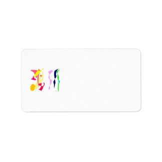 Stripes Personalized Address Labels
