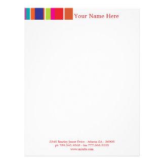 Stripes letter head design letterhead