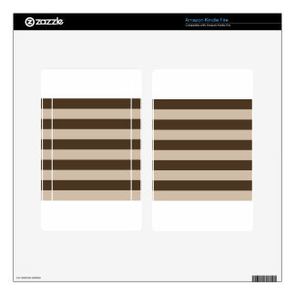 Stripes - Light Brown and Dark Brown Kindle Fire Decals