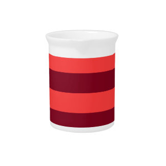 Stripes - Light Red and Dark Red Beverage Pitchers