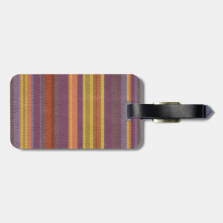 STRIPES & LINES in earthy colors leather print Bag Tag