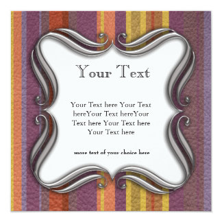 STRIPES & LINES in earthy colors leather print Card
